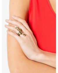 Gucci - Metallic Hand And Arrow Ring - Lyst