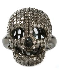 Christian Koban | Metallic 'skull' Diamond Ring | Lyst