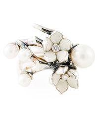 Shaun Leane | Metallic 'cherry Blossom' Diamond Ring | Lyst