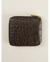 Mulberry - Brown Crocodile Effect Wallet for Men - Lyst
