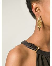 Stephen Webster - Metallic Chamfered Bale Dagger Diamond Earrings - Lyst