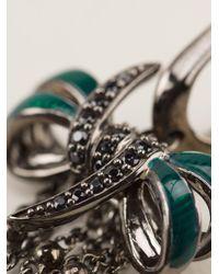 Stephen Webster - Black Sapphire Bow Earrings - Lyst