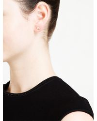 Natasha Collis - Metallic Diamond Stud Earings - Lyst
