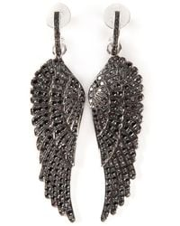 Garrard | Black Diamond Wing Earrings | Lyst