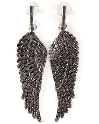 Garrard | Metallic Diamond Wing Earrings | Lyst