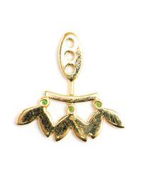 Yvonne Léon | Green Yvonne Léon 18kt White Gold And Tsavorite Lobe Earring | Lyst