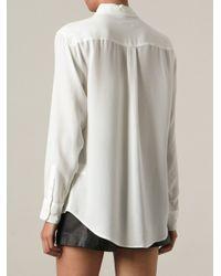 Equipment - White - 'signature 2' Shirt - Women - Silk - L - Lyst