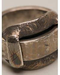 Tobias Wistisen | Metallic Big Loop Ring for Men | Lyst