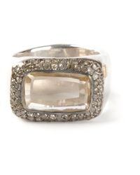 Rosa Maria | Metallic 'nasila' Grey Diamond Topaz Ring | Lyst
