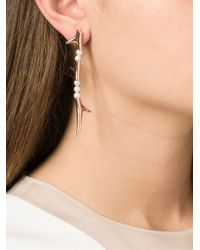 Shaun Leane | Metallic Pearl Branch Earrings | Lyst