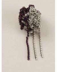 Arielle De Pinto - Metallic Chain Bundle Bicolour Earrings - Lyst