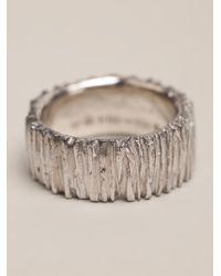 1-100 | Metallic Textured Ring | Lyst