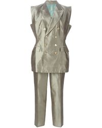 Jean Paul Gaultier - Blue Sleeveless Suit - Lyst