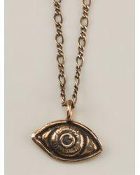 Pamela Love - Metallic Evil Eye Necklace - Lyst