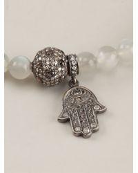Loree Rodkin - White Moonstone And Diamond Pavé Bracelet - Lyst