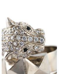 Iosselliani - Metallic 'metal Instinct' Cheetah Ring - Lyst