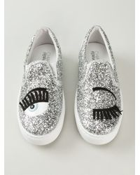 Chiara Ferragni | Metallic Flirting Sequinned Slip-On Sneakers | Lyst