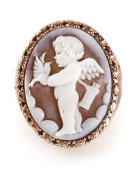 Amedeo | White Cupid Sardonyx Ring | Lyst
