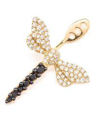 Yvonne Léon | Metallic Yvonne Léon Diamond Dragonfly Lobe Earring | Lyst