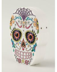Charlotte Olympia - White 'calavera' Clutch - Lyst