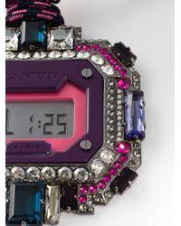 Lanvin - Pink Digital Watch Pendant - Lyst