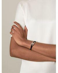 Ferragamo - Black Gancini Bracelet - Lyst