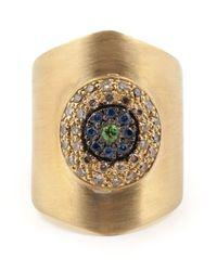 Ileana Makri - Metallic 'round Eye Shield' Ring - Lyst