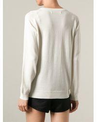 Sibling - White 'the Fan Club' Sweater - Lyst
