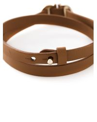 Ferragamo - Brown Wrap Around Gancini Bracelet - Lyst