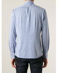 Brunello Cucinelli - Blue Classic Shirt for Men - Lyst