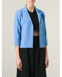 P.A.R.O.S.H. - Blue 'ritz' Cropped Jacket - Lyst