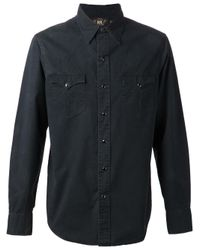 RRL - Black Western Shirt for Men - Lyst