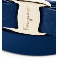 Ferragamo - Blue Vara Bow Wrap Around Bracelet - Lyst