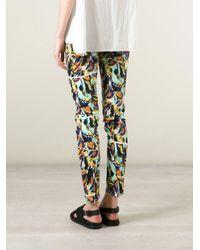 KENZO - Multicolor 'torn Flowers' Skinny Jeans - Lyst