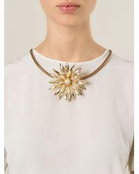 Rosantica - Metallic Flower Necklace - Lyst