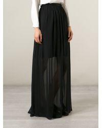 Carven | Black Layered Sheer Skirt | Lyst