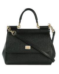 Dolce & Gabbana | Black Small 'sicily' Tote | Lyst