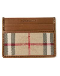 Burberry | Natural Horseferry Check Leather Cardholder for Men | Lyst