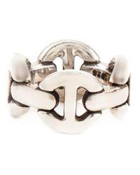 Hoorsenbuhs - Metallic 'quad-link' Ring - Lyst