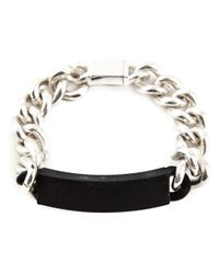 Maison Margiela - Metallic Plaque Chain Bracelet for Men - Lyst