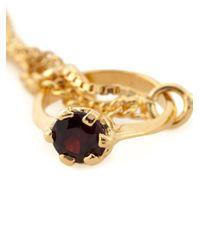 Puro Iosselliani - Metallic Garnet Ring Tangled Bracelet - Lyst