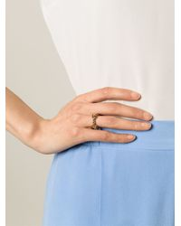 Aurelie Bidermann | Metallic 'palazzo' Ring | Lyst
