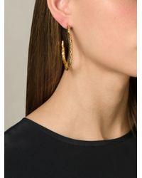 Aurelie Bidermann | Metallic 'tao' Hoop Earrings | Lyst