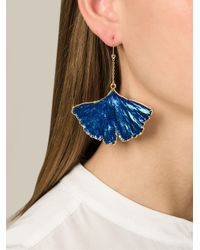 Aurelie Bidermann - Blue 'ginkgo' Earrings - Lyst