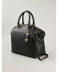 MICHAEL Michael Kors - Black 'large Riley' Satchel - Lyst