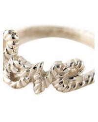 Zoe & Morgan - Metallic 'love Lasso' Ring - Lyst