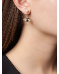 Delfina Delettrez - Metallic 'eyes On Me Piercing' Sapphire And Diamond Earring - Lyst