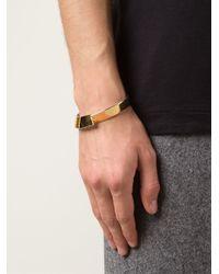 1-100 - Metallic '163' Cuff Bracelet - Lyst