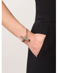 1-100 - Metallic '152' Cuff Bracelet - Lyst