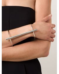 1-100 - Metallic Bar Detail Cuff - Lyst